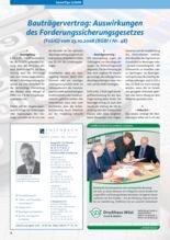 thumbnail of ImmoTipsBeitrag_2009-1_Bautraegervertrag-Auswirkungen-des-Forderungssicherungsgesetzes